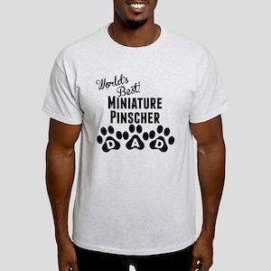 Worlds Best Miniature Pinscher Dad T-Shirt