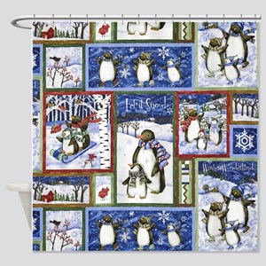 Snowmen Shower Curtain