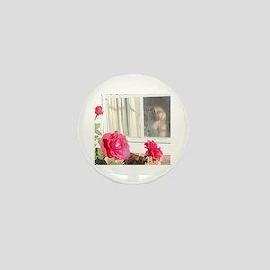 Tara's Rosey Window Mini Button