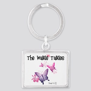 Walkie Talkies Logo Blk Landscape Keychain