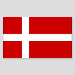 Danish Flag Rectangle Sticker