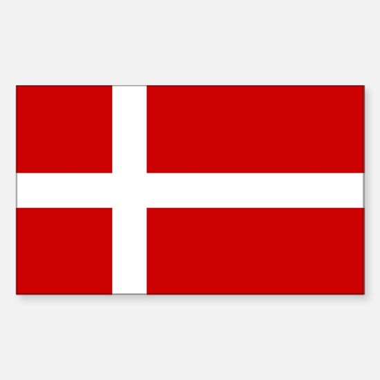 Danish Flag Rectangle Decal