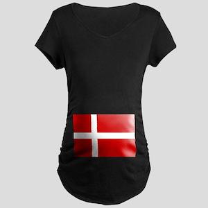 Danish Flag Maternity Dark T-Shirt