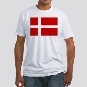 Danish Flag Fitted T-Shirt