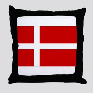 Danish Flag Throw Pillow