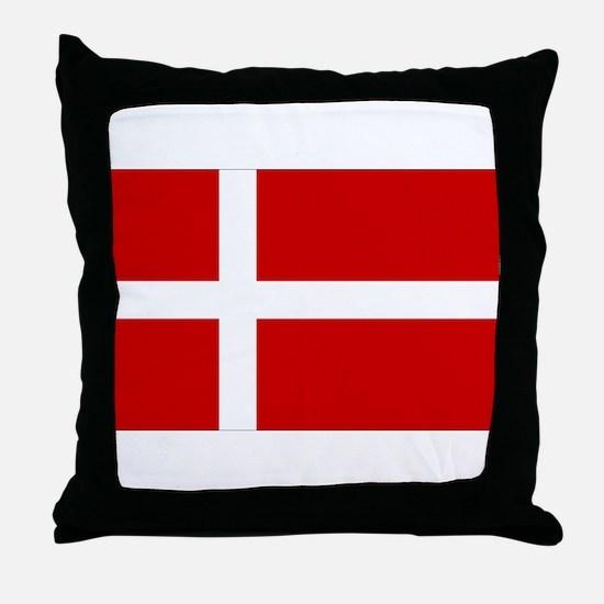 Danish Flag Throw Pillow