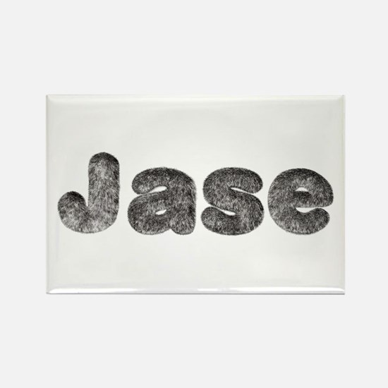 Jase Wolf Rectangle Magnet