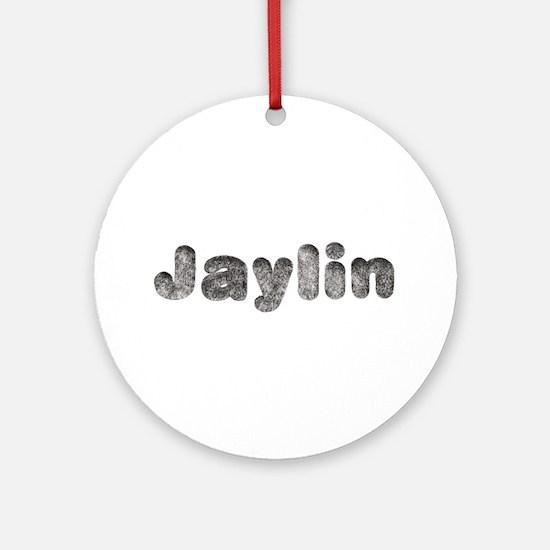 Jaylin Wolf Round Ornament