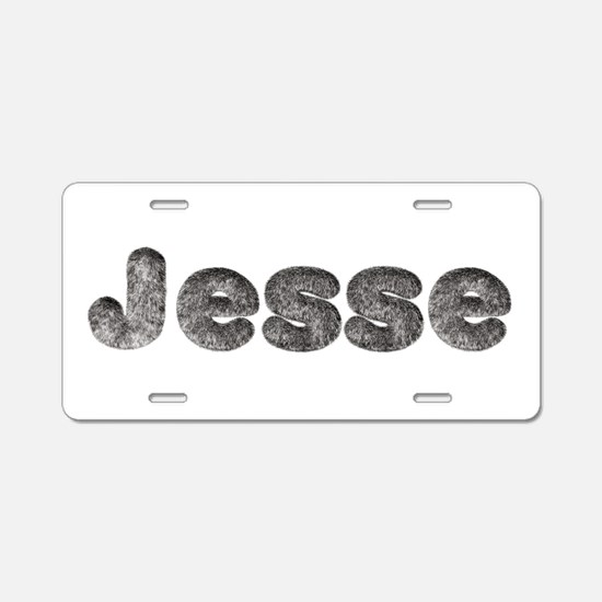 Jesse Wolf Aluminum License Plate