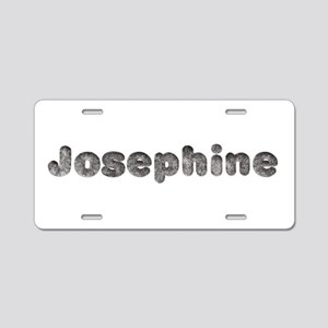 Josephine Wolf Aluminum License Plate