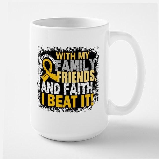 Childhood Cancer Survivor FamilyFriends Large Mug