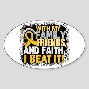Childhood Cancer Survivor FamilyFri Sticker (Oval)