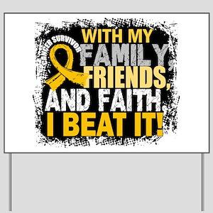 Childhood Cancer Survivor FamilyFriendsF Yard Sign