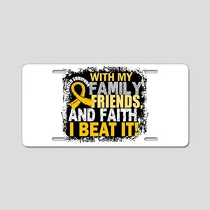 Childhood Cancer Survivor F Aluminum License Plate