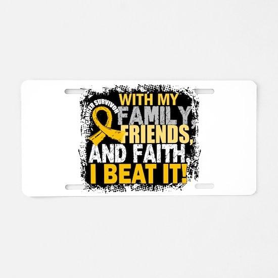 Childhood Cancer Survivor F Aluminum License Plate