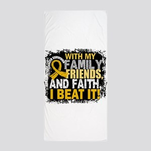 Childhood Cancer Survivor FamilyFriend Beach Towel