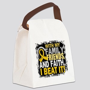 Childhood Cancer Survivor FamilyF Canvas Lunch Bag