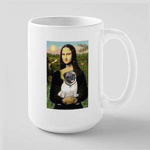 Mona's Fawn Pug Large Mug