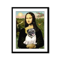 Mona's Fawn Pug Framed Panel Print