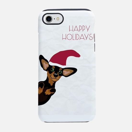 Happy holidays santA hat dachs iPhone 7 Tough Case