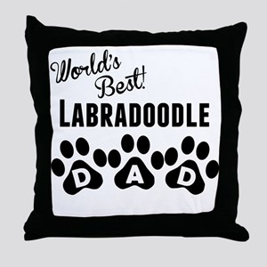 Worlds Best Labradoodle Dad Throw Pillow