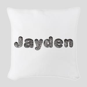 Jayden Wolf Woven Throw Pillow