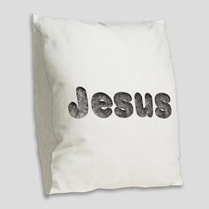 Jesus Wolf Burlap Throw Pillow