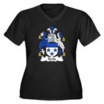Turtle Family Crest Women's Plus Size V-Neck Dark