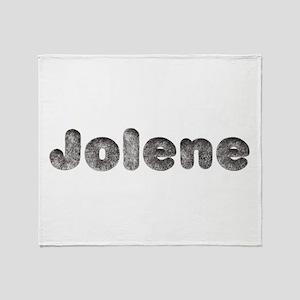 Jolene Wolf Throw Blanket