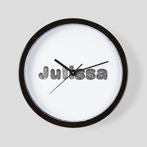 Julissa Wolf Wall Clock