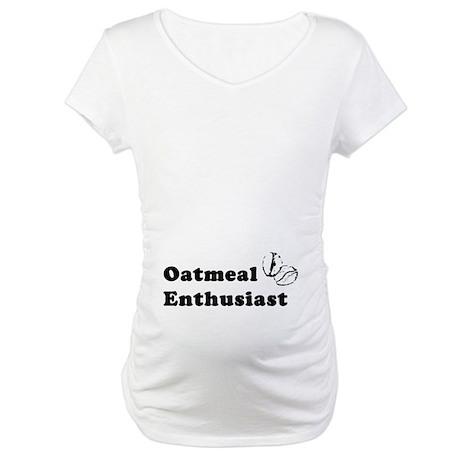 Oatmeal Enthusiast Maternity T-Shirt