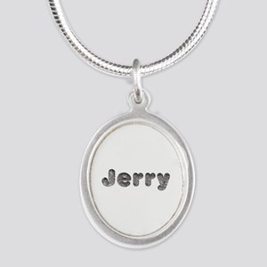 Jerry Wolf Silver Oval Necklace