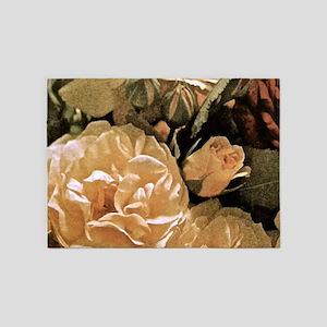Gramma's Roses 5'x7'Area Rug