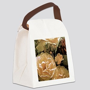 Gramma's Roses Canvas Lunch Bag