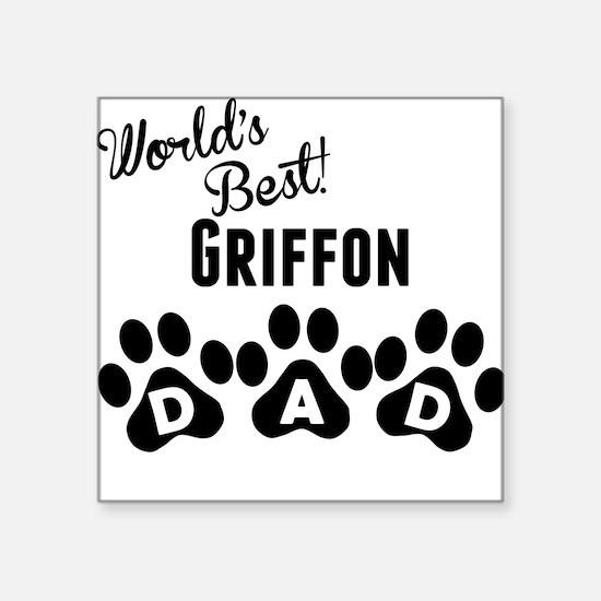 Worlds Best Griffon Dad Sticker