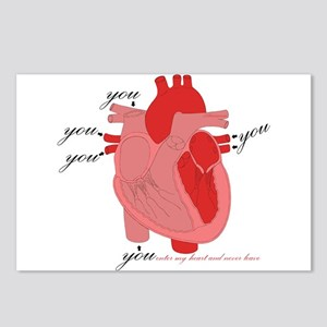 You Enter My Heart Postcards (Package of 8)