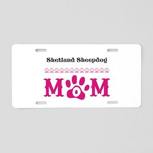 Personalizable Dog Breed Mom Aluminum License Plat