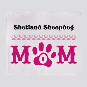Personalizable Dog Breed Mom Throw Blanket