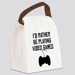 Id Rather Be Playing Video Games Canvas Lunch Bag
