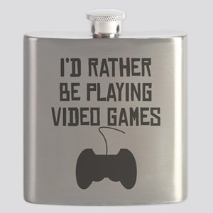 Id Rather Be Playing Video Games Flask