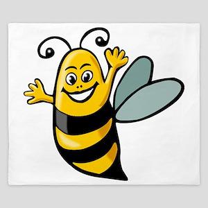 Happy Bee King Duvet