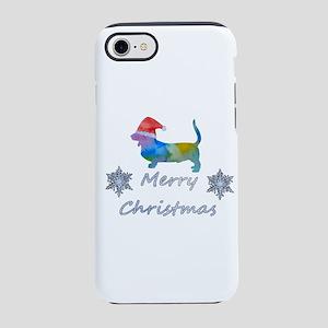 Santa Basset Hound iPhone 7 Tough Case