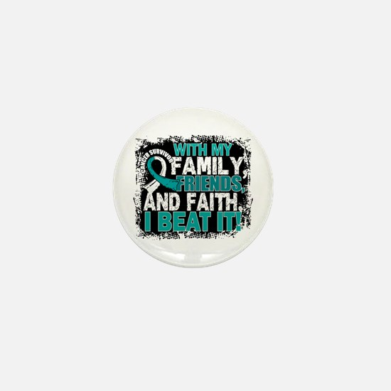 Cervical Cancer Survivor Fam Mini Button (10 pack)