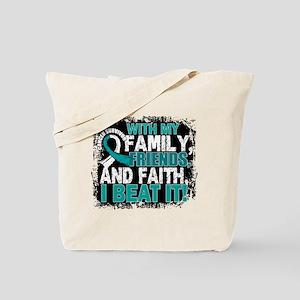 Cervical Cancer Survivor FamilyFriendsFai Tote Bag