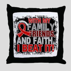 Blood Cancer Survivor FamilyFriendsFa Throw Pillow