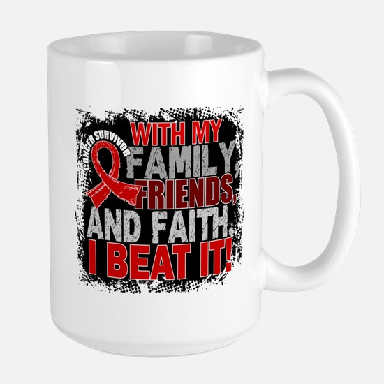 Blood Cancer Survivor FamilyFriendsFait Large Mug