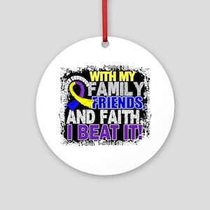 Bladder Cancer Survivor FamilyFri Ornament (Round)