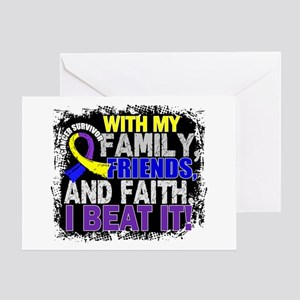 Bladder Cancer Survivor FamilyFriend Greeting Card