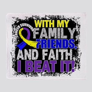 Bladder Cancer Survivor FamilyFriend Throw Blanket