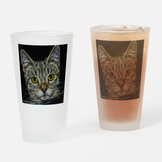 Calico KItty Art Drinking Glass